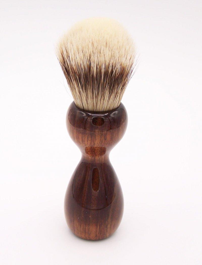 Image 3 of Hawaiian Koa Wood 24mm Super Silvertip Badger Shaving Brush (K1)