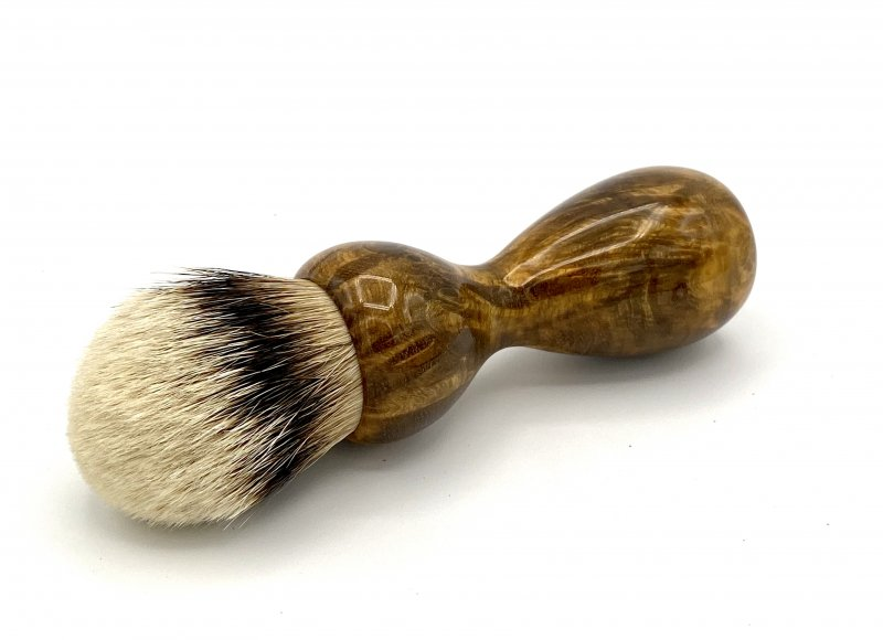 Image 0 of Gmelia Burl Wood 26mm Silvertip Badger Shaving Brush (Handmade) G1