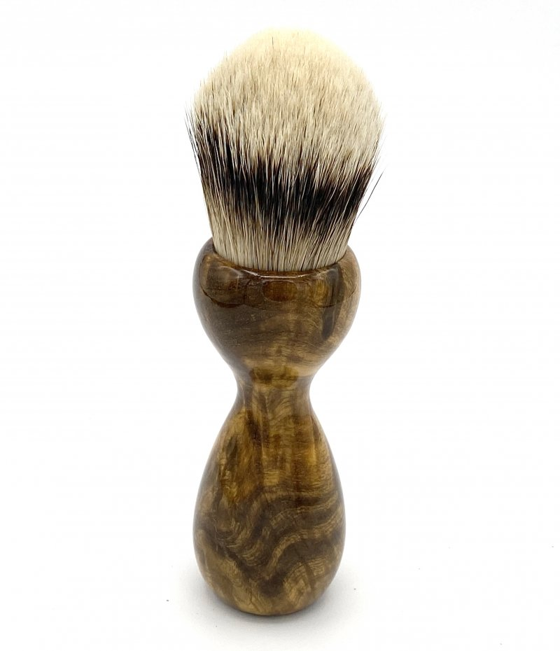 Image 2 of Gmelia Burl Wood 26mm Silvertip Badger Shaving Brush (Handmade) G1