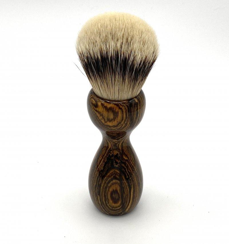 Image 2 of Bocote Wood 26mm Silvertip Badger Shaving Brush (Handmade) B1