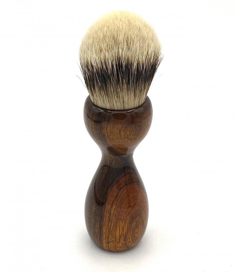 Image 2 of Desert Ironwood 26mm Silvertip Badger Shaving Brush (Handmade) D1