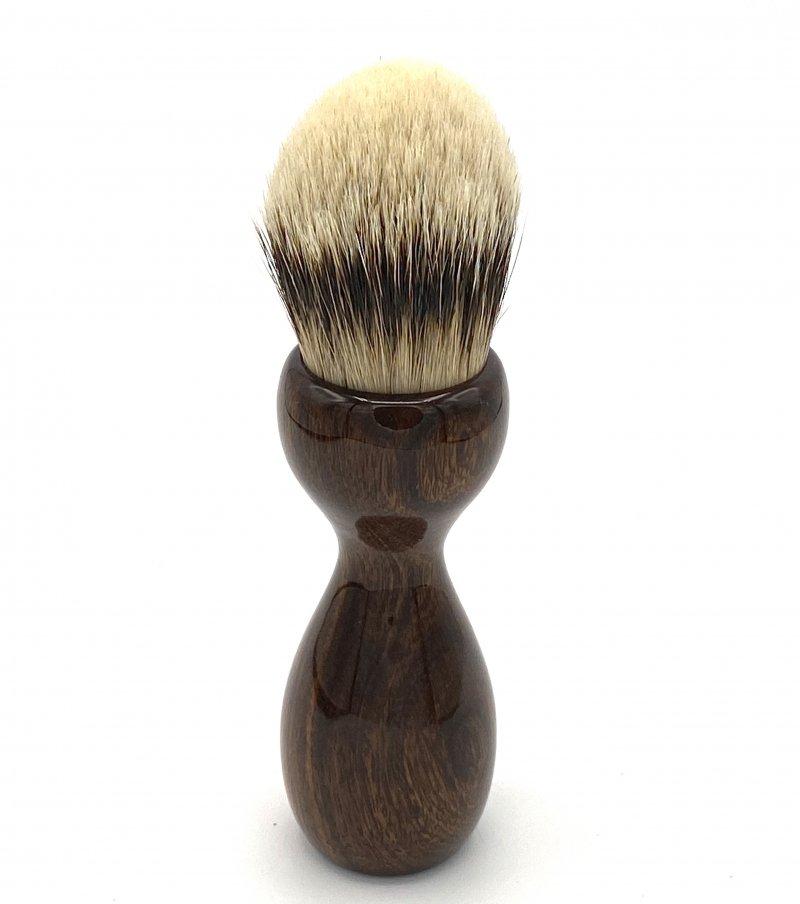 Image 3 of Desert Ironwood 26mm Silvertip Badger Shaving Brush (Handmade) D1