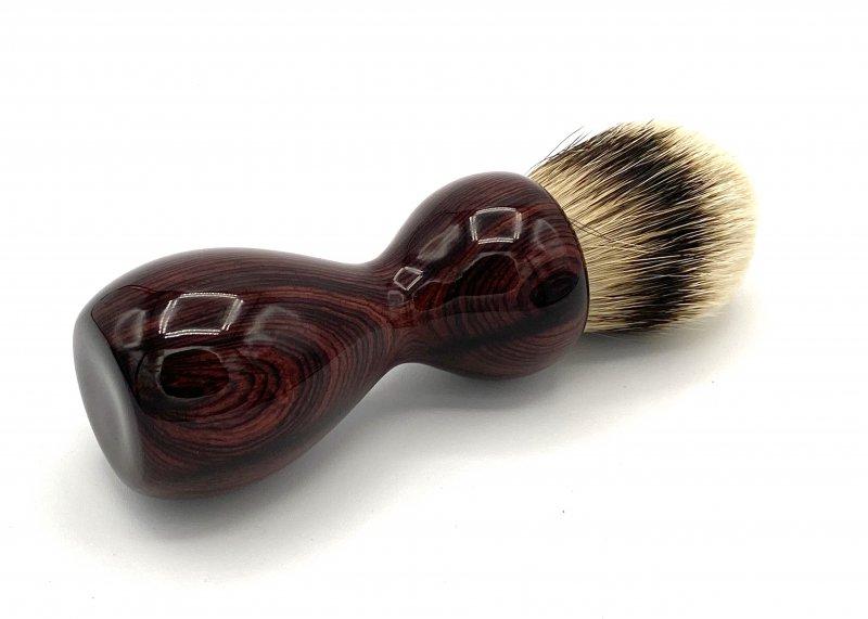 Image 1 of Camatillo Rosewood 26mm Silvertip Badger Shaving Brush (Handmade) C1