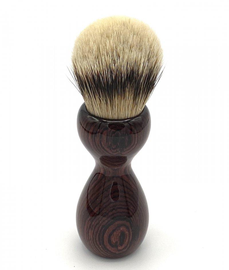 Image 2 of Camatillo Rosewood 26mm Silvertip Badger Shaving Brush (Handmade) C1