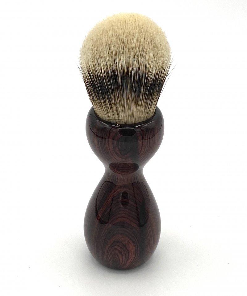 Image 3 of Camatillo Rosewood 26mm Silvertip Badger Shaving Brush (Handmade) C1