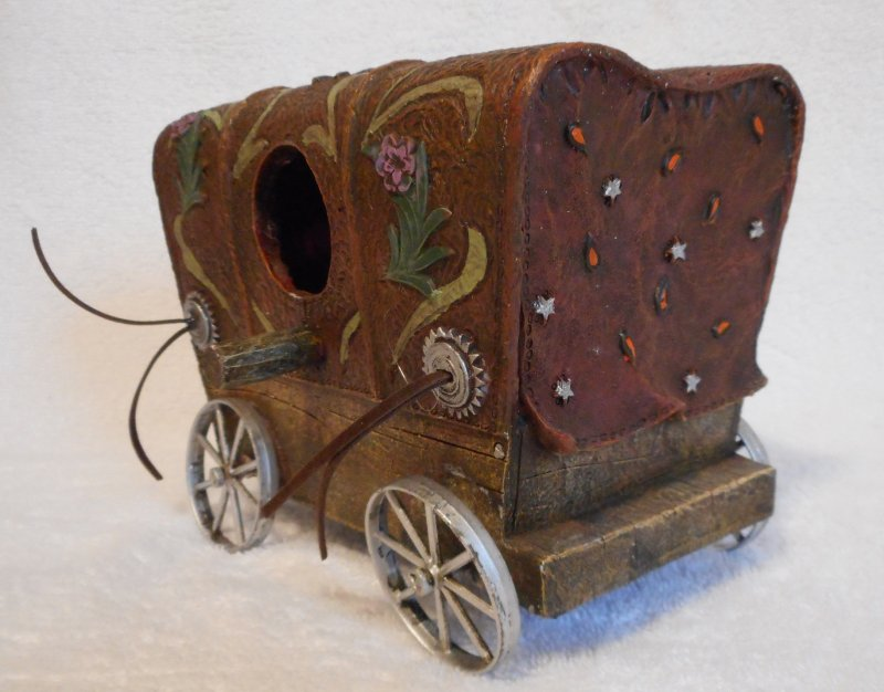 Image 1 of Covered Wagon Bird House