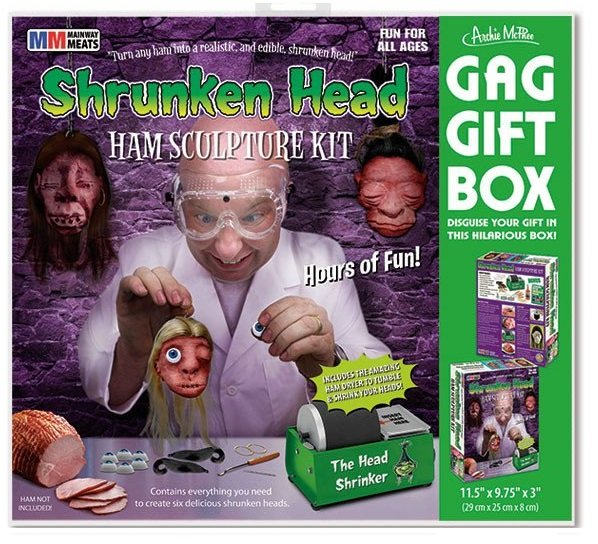 Image 0 of Shrunken Head Ham Gag Gift Set