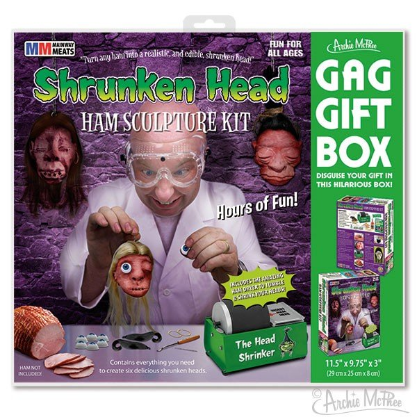 Image 1 of Shrunken Head Ham Gag Gift Set
