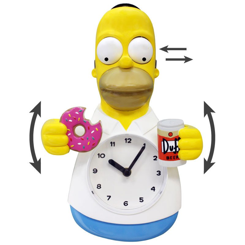 Image 0 of Homer Simpson 3-D Motion Clock