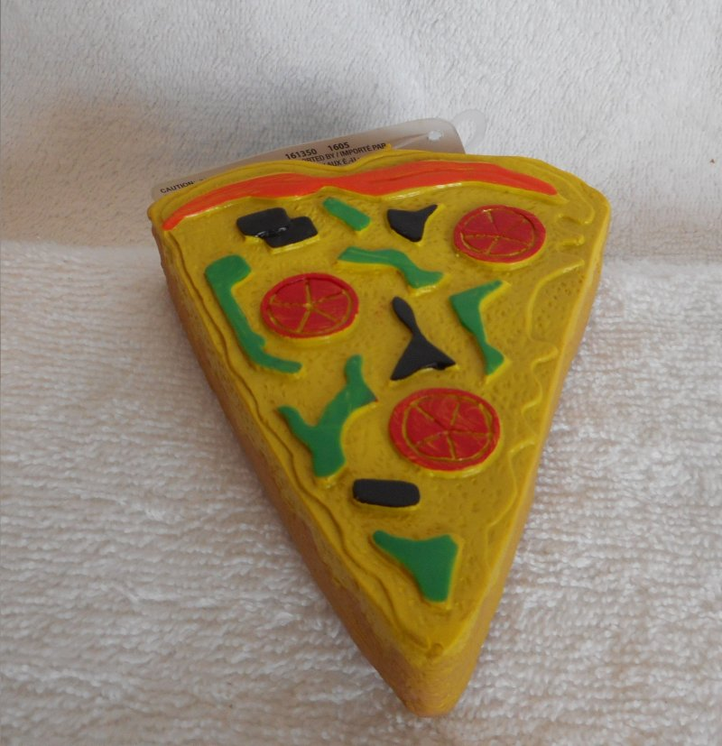 Image 0 of Pizza Squeaky Toy