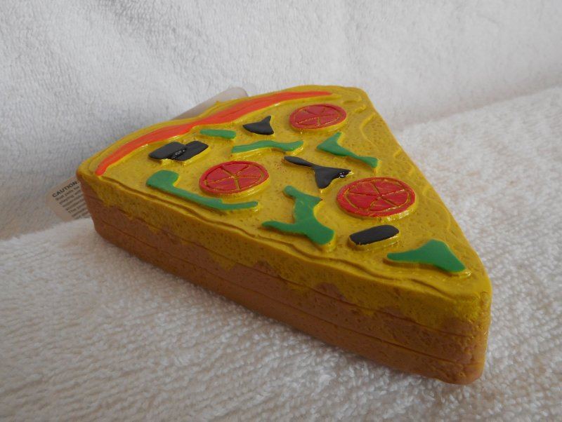 Image 1 of Pizza Squeaky Toy