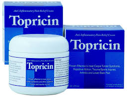 Topricin 4 oz By Topical Biomedics . Item No.:4004299 NDC No.: 61500552702 UPC No.: 609863047049 Item Description: External Muscle Pain Relief Cr Other Name:Topricin Therapeutic Code: Therapeutic Clas