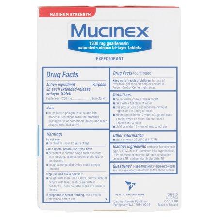 Mucinex Max Strength Tablet 14ct By Reckitt Benckiser