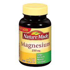 Magnesium Oxide 250mg Tab 200 Count Nature Made