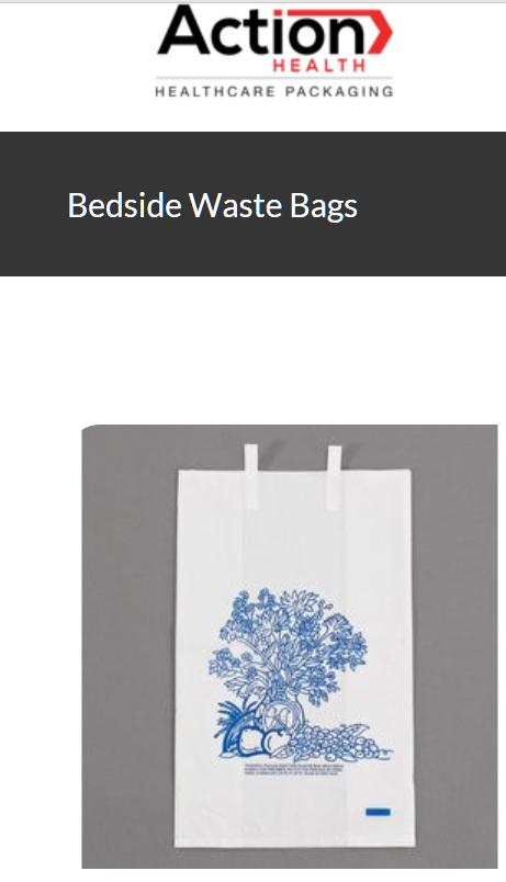 Bedside Waste Bags One Case of 2000, Bedside Waste 7W x 4D x 11H, White with Pri