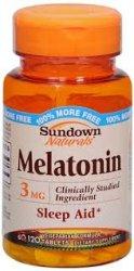 Melatonin 3MG Bonus Tablet 120CT Sundown