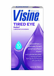 Visine Tired Eye Relief Lubricant Eye Drops - 0.5 oz Bottle By J&J Consumer