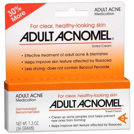 Acnomel Adult Acne Medication Cream 1 oz Resorcinol/Sulfur Topical Cream (G) 2%-8% By Emerson Healthcare LLC Item No.: 4040246 NDC No.: 38485091161 38485-0911-61 38485-911-61 3848591161<Br>UPC No.: 03