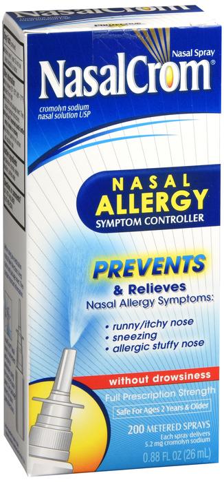 Nasalcrom 5.2 mg Spray .88 oz Item No. OTC046391, 046391 Nasalcrom 5.2 mg Spy .88 oz By Medtech Item No.:4046391 NDC No.: 14832001101 14832-0011-01 14832-011-011483201101 UPC No.: 814832011017 8-14832