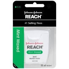 Johnson & Johnson Reach Dental Floss, Mint Waxed - 55 Yds Item No.:4047035 OTC047035 NDC No.: UPC No.: 381370092179 Item Description: Floss & Flossers Other Name:Jj Dent/Floss Therapeutic Code: Thera