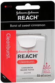 Reach Cleanburst Floss, Waxed, Cinnamon Item No.:4047142 OTC047142 NDC No.: UPC No.: 381370092193 Item Description: Floss & Flossers Other Name:Jj Dent/Floss Therapeutic Code: Therapeutic Class: First