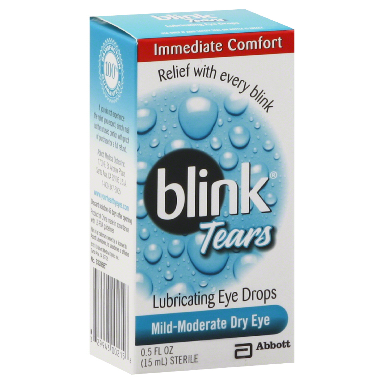 Blink Tears Dry Eye Drop 15ml By J&J