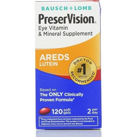 PreserVision Vitamin & Mineral Supplement Lutein 120 Ct Soft Gels