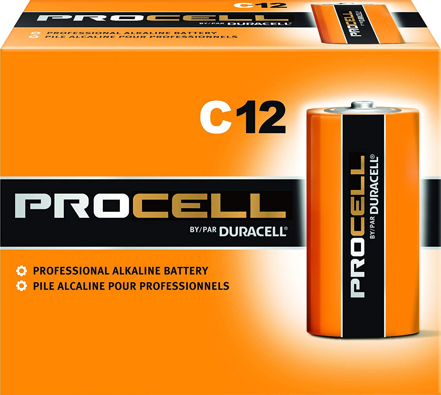 Case of 12-Duracell PROCELL C 12CT