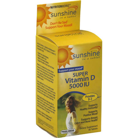 Windmill Sunshine Super Vitamin D 5000 IU Tablets 30Ct