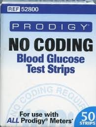 Prodigy No Code Test Strip Retail 50Ct