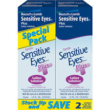 Bausch & Lomb Gentle Sensitive Eyes Plus Saline Solution - 2 pack, 12 fl oz  Bausch & Lomb Gentle Sensitive Eyes Plus Saline Solution - 2 pack, 12 fl oz bottles By Valeant North America Llc Item No.:4