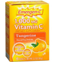 Emergen-C Flavored Fizzy Drink Mix Tangerine - 10 Pack 3.3 oz Box