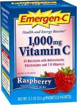 Emergen-C Vitamin C Supplement, 1000 mg, Raspberry - 10 packets, 0.32 oz