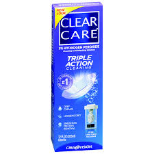 Clear Care Cleaning & Disenfecting Solution No Rub - 12 Fl oz Bottle