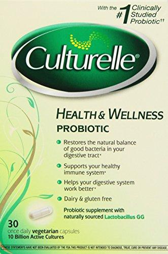 Culturelle Probiotic Health & Wellness Capsules - 30 Count