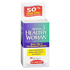Options Healthy Woman Soy Extract Tablet 45Ct