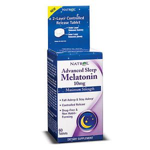 Natrol Melatonin Advanced Sleep Maximum Strength 10 mg Tablets - 60 Tablets