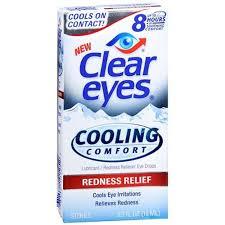 Clear Eyes Cooling Comfort Eye Drops, Redness Relief - 0.5 fl oz bottle