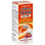 Motrin Child Suspension Dye Free Berry 4 oz