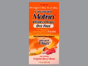 Motrin Child Suspension Dye Free Berry 1 oz