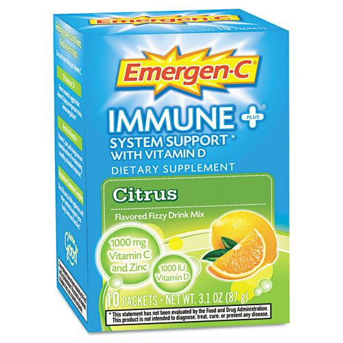 Emergen-C Immune Plus Packets Citrus - 10 Pack