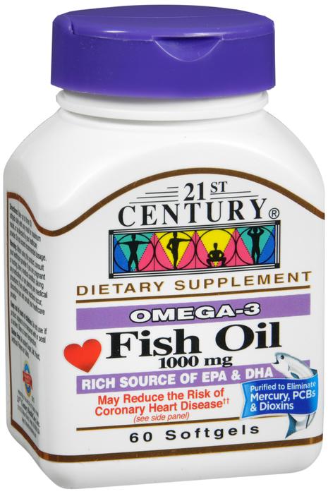 Fish Oil 1000mg Sftgl 60 Count 21st Century