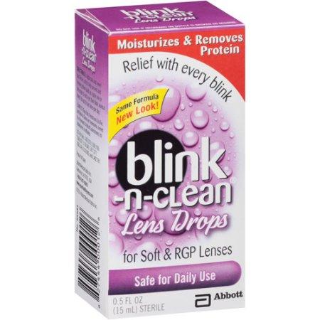 Blink-N-Clean Lens Drops - 0.5 fl oz bottle Blink-N-Clean Lens Drops - 0.5 fl oz bottle  By Amo Sales And Services Inc. Item No.:4179747 Ndc No.: Upc No.: 827444000126 Item Description: Soft Lens Rewe