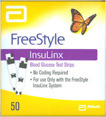Freestyle Insulinx Test Strip 50 Count Retail Pack