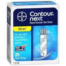 Bayer Contour Next Test Strip Retail Pack 25 Count
