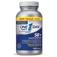 One-A-Day Men's 50+ Healthy Advantage Multivitamin Supplement Tablet 100Ct