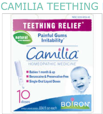 '.Camilia Teething Relief .'