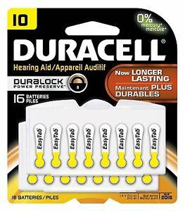 Case of 12-Duracell Hearing Aid DA10 16Ct