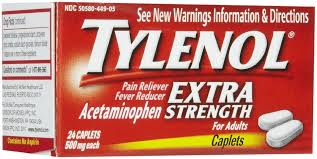 Tylenol Pain Reliever Acetaminophen Extra Strength 500 mg Caplet - 24 Count