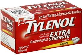Tylenol Pain Reliever/Fever Reducer Extra Strength 500 mg Caplets - 100 Count